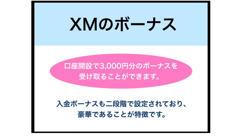 XMの入金ボーナス・口座開設ボーナス