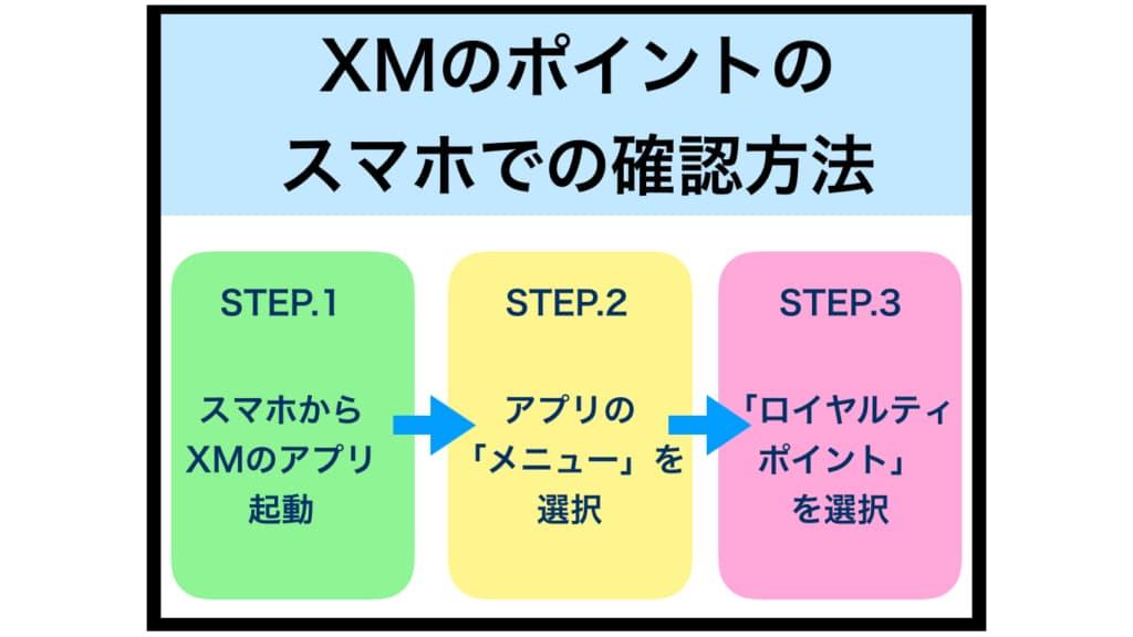 XMポイントのスマホでの確認方法